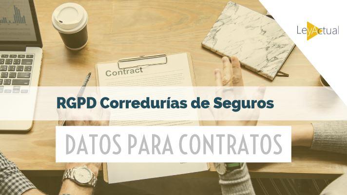 datos para contratos correduria seguros