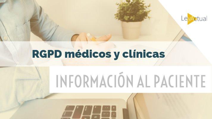 información rgpd pacientes