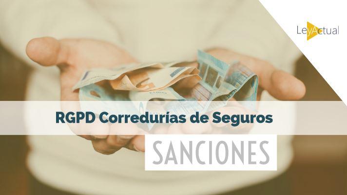 sanciones proteccion de datos correduria de seguros