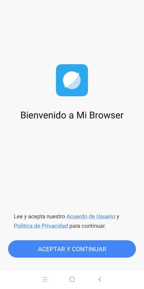 RGPD navegador xiaomi