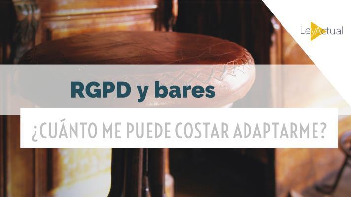 coste adaptar bar al rgpd