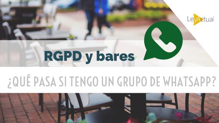 rgpd bar whatsapp